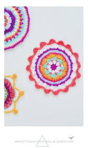 3 Bright Bohemian Mandalas to Crochet