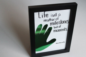 Foiled Hand Quote Frame