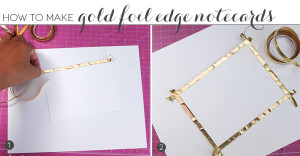 Gold Foil Edged Notecards