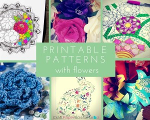Printable Patterns with Flowers