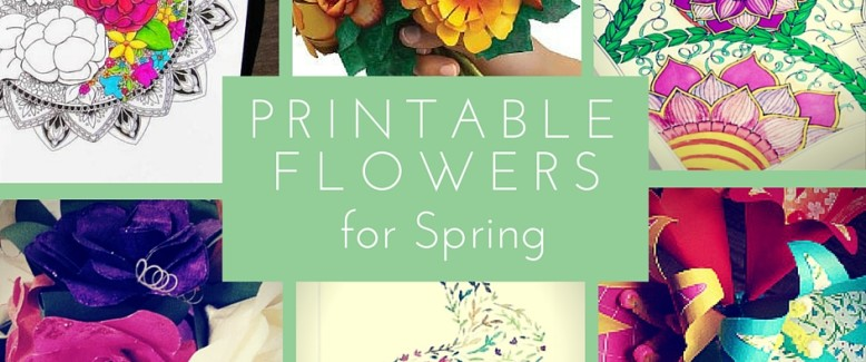Printable Flowers for Spring: 11 Free Printables