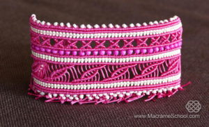 Colorful Boho Chic Macrame Bracelet