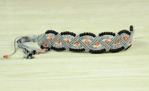 Beaded ZigZag Macrame Bracelet