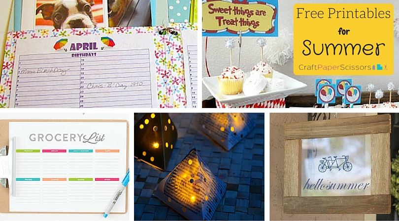 Summer Printables - CPS Image
