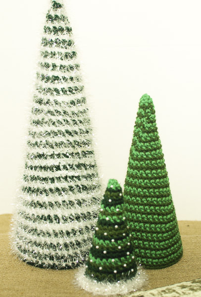 Coordinating Crocheted Christmas Trees