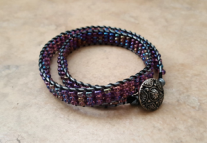 Lilac-Ladder-Stitch-Wrap-Bracelets