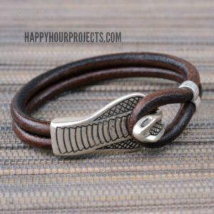 Snake-Clasp-Leather-Bracelet