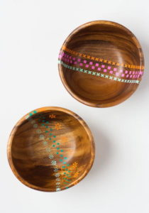 Thrifty-Painted-Wood-Bowls