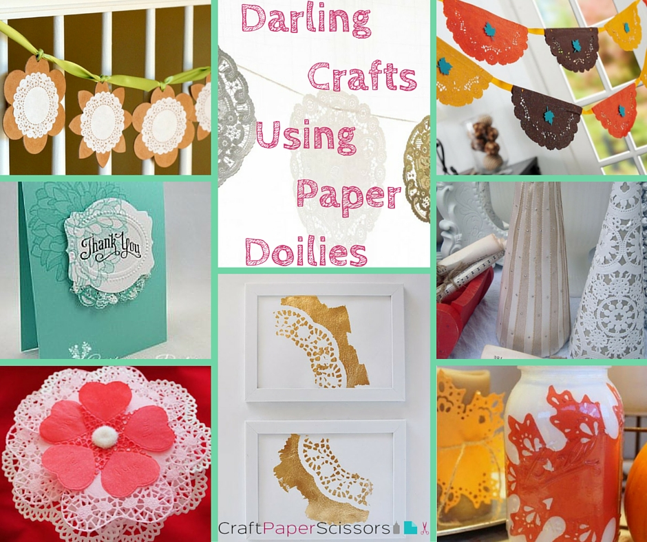 10 Darling Crafts Using Paper Doilies