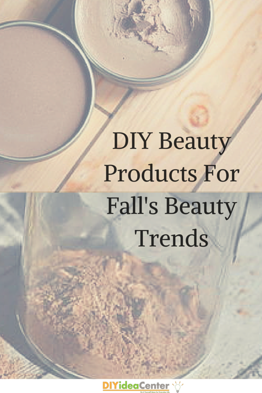 DIY Beauty Products for Fall's Beauty Trends