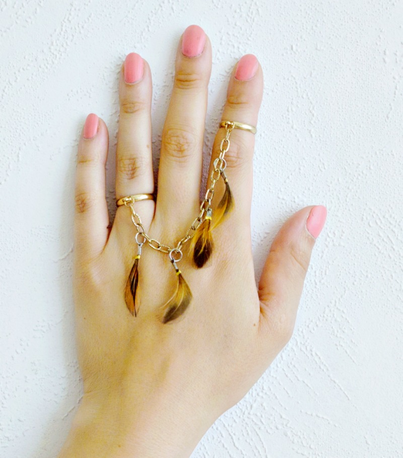 Boho Festival Feather DIY Rings