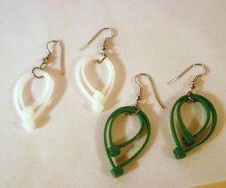 Zip Tie Leaf Earrings
