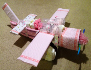 Flying Diaper Airplane Cake