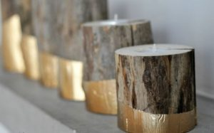 Gold-Dipped-DIY-Wood-Candle-Holders