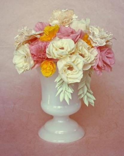 Lavish Crepe Paper Flowers Bohemian Wedding Centerpiece