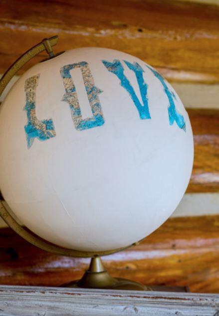 Letter Art Globe DIY Wedding Centerpiece