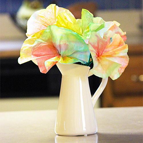 Spring Coffee Filter Flowers