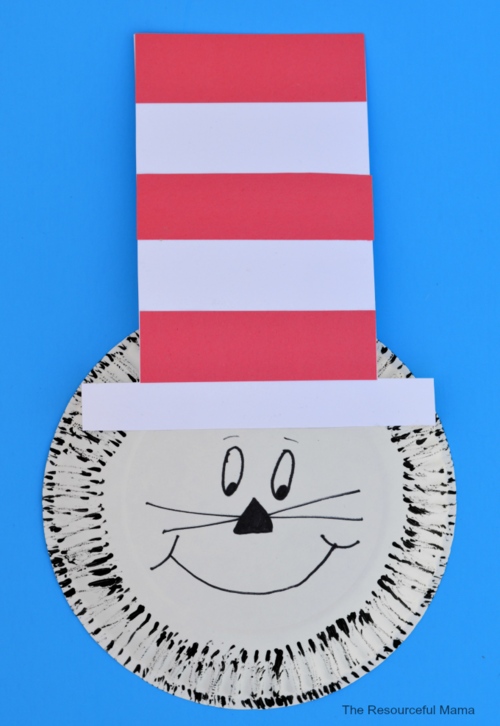 Paper Plate Dr. Seuss Cat in the Hat Craft