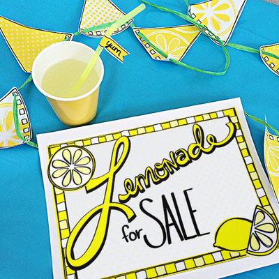 Printable Lemonade Stand Kit