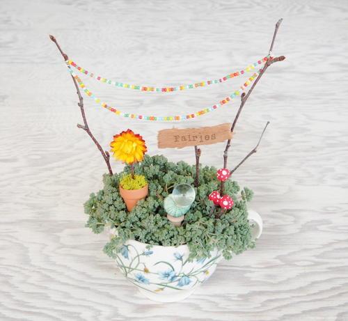 Magical Teacup Fairy Garden