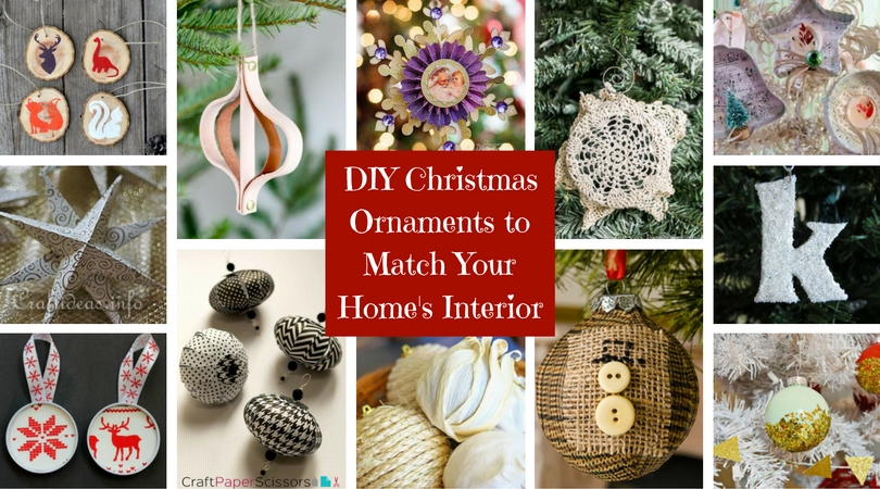 30 DIY Christmas Ornaments to Match Your Home's Interior
