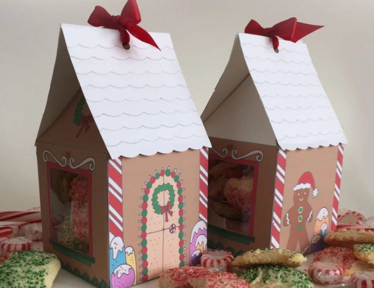 Free Printable Gingerbread House Treat Boxes