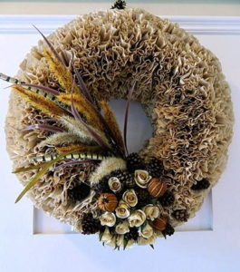 Fun Fall Coffee Filter Wreath