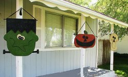 Spooky Porch Hangings