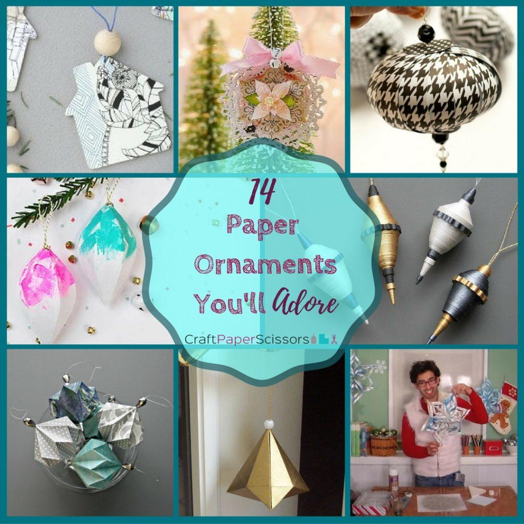 14 Paper Ornaments You'll Adore