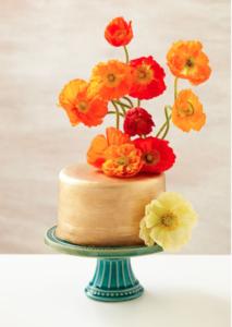 Stunning Golden Poppy Cake Decorating Idea