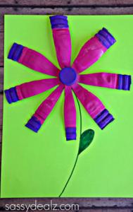 Vibrant Water Bottle Flower Crafts