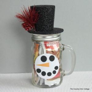 Easy Snowman Jar Gift