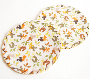How to Make Fabric Coasters for Fall
