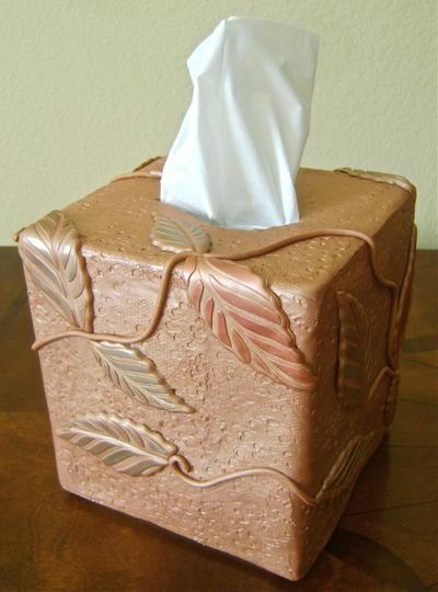 Leafy Tissue Box Cover