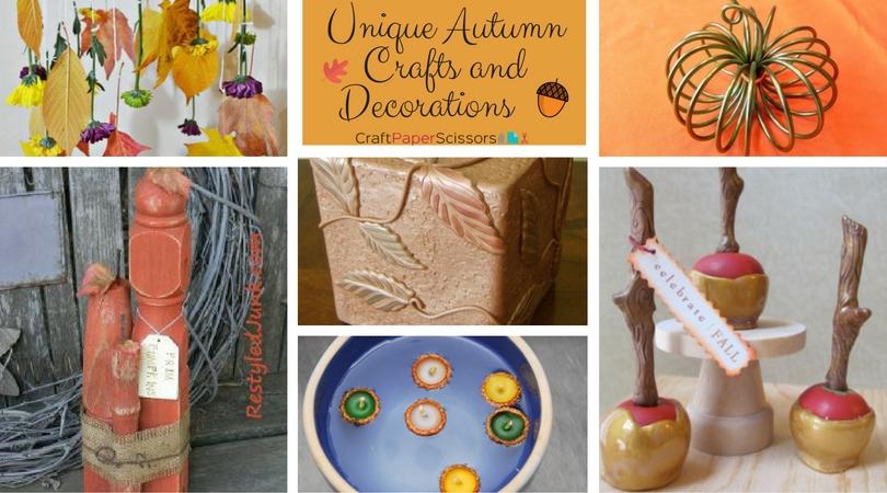 9 Unique Autumn Crafts and Decorations