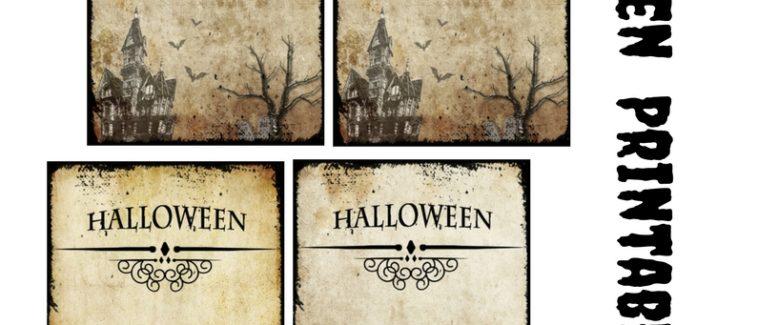 Free Printables: Halloween Vintage Tags