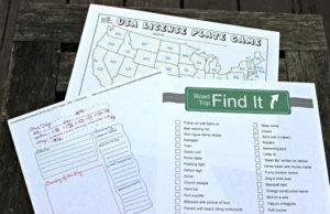 Printable Road Trip Activities