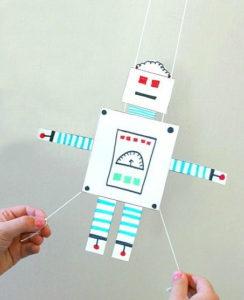 Gliding Robot Free Printable