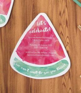 Watermelon Printable Party Invitations