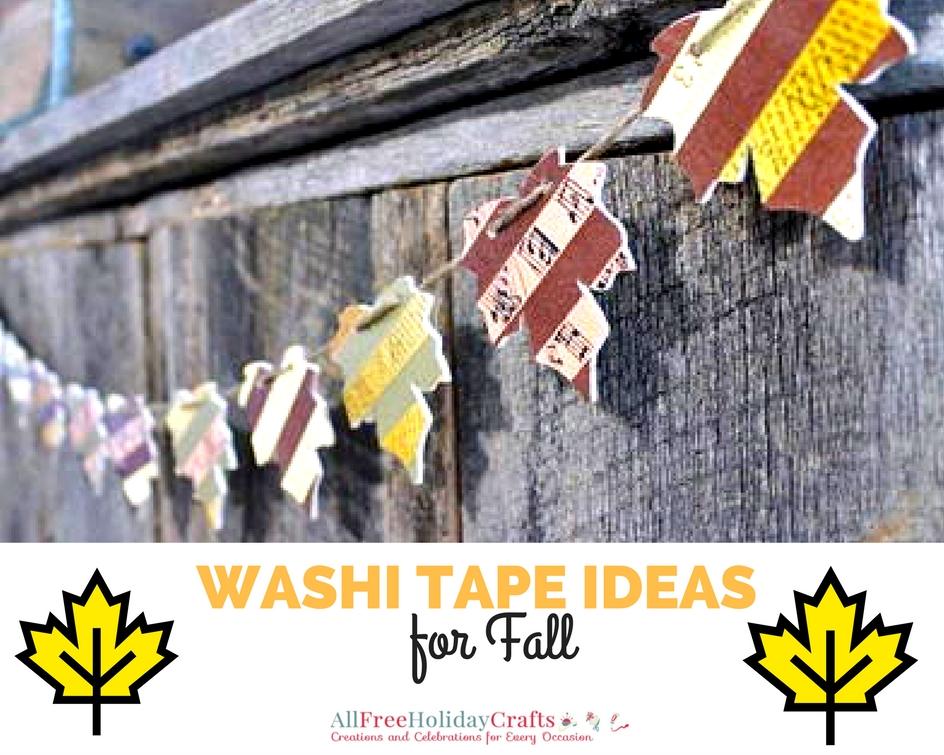 Washi Tape Ideas for Fall