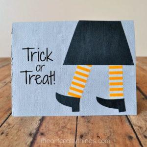 DIY Halloween Card Paper Crafts for Kids
