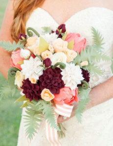 Felt Flower DIY Wedding Bouquet