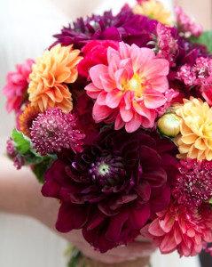 Pops of Fall Wedding Bouquet