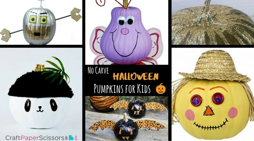 No Carve Pumpkin Ideas for Kids