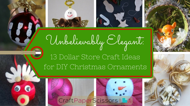 Unbelievably Elegant: 13 Dollar Store Craft Ideas for DIY Christmas Ornaments