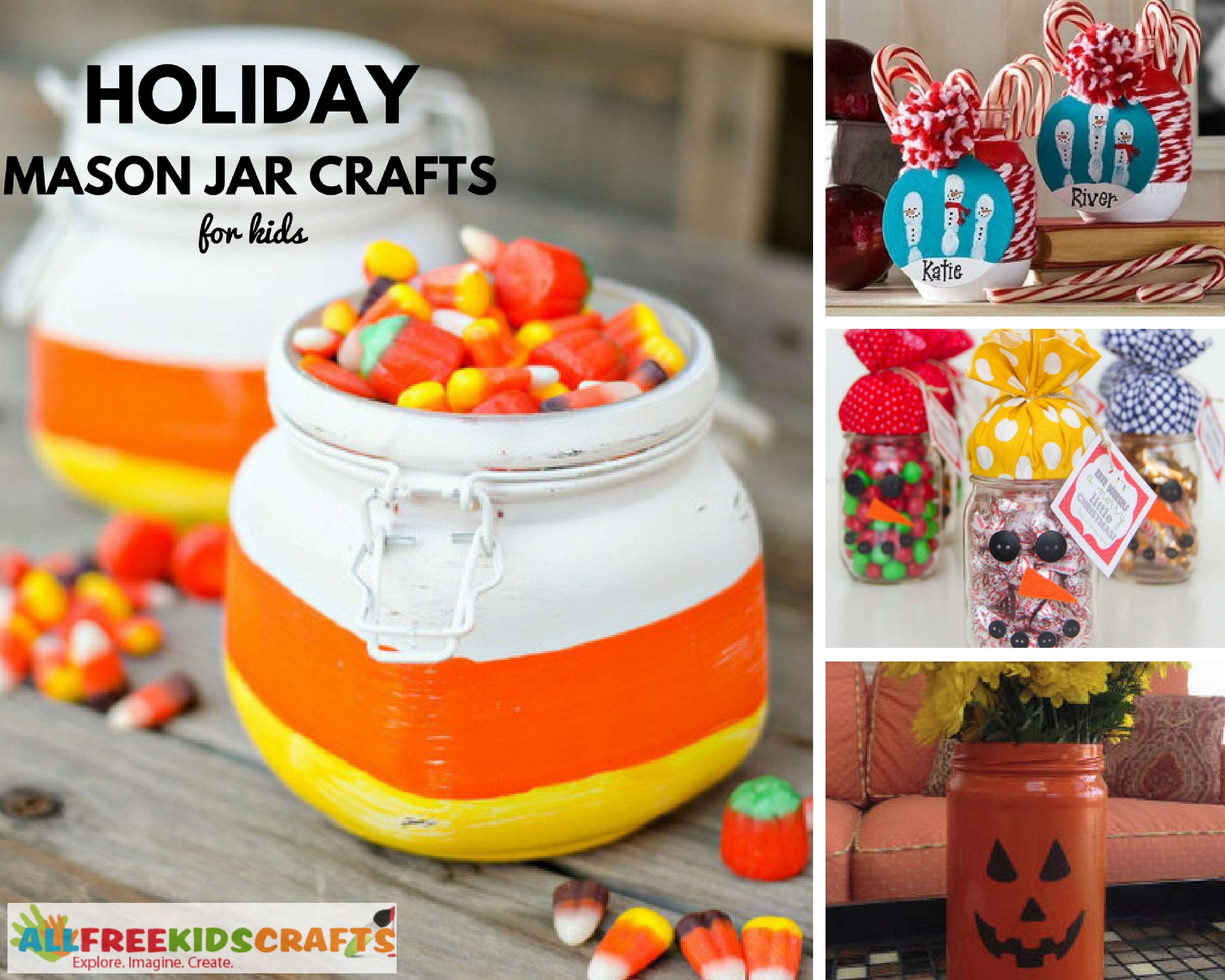 Holiday Mason Jar Crafts for Kids