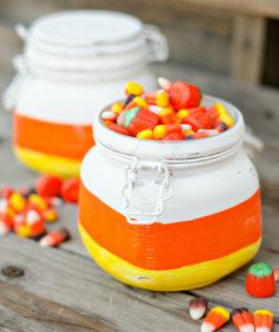 Simple DIY Candy Corn Jars