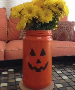 No-Fuss Mason Jar Pumpkin Vase