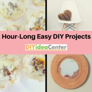 Hour Long Easy DIY Projects Slider