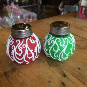 Christmas Ornament Salt and Pepper Shakers
